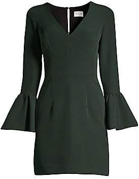 Milly Women's Italian Cady Morgan Bell-Sleeve Sheath Dress