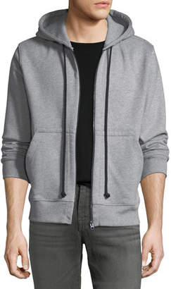 7 For All Mankind Men's Heathered Zip-Front Hoodie