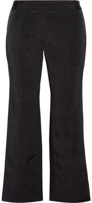 Protagonist Moire Wide-leg Pants - Black