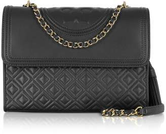 Tory Burch Fleming Black Leather Convertible Shoulder Bag