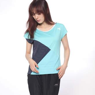 Diadora (ディアドラ) - ディアドラ Diadora レディース テニス 半袖Tシャツ W ELITE アシメトリートップ DTP8592
