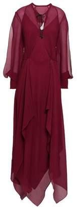Roland Mouret Austonley Open-back Silk-crepe Maxi Dress