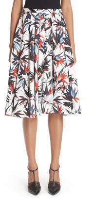 Jason Wu Bird of Paradise Print Cotton Poplin Skirt