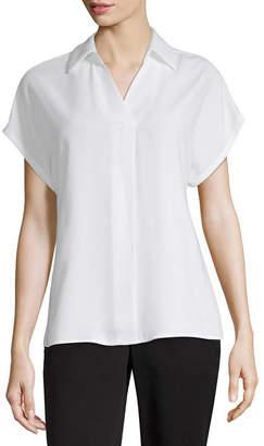WORTHINGTON Worthington Womens Short Sleeve Blouse