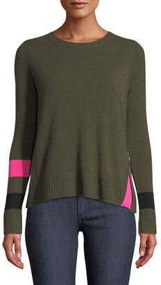 Lisa Todd Sneak Peek Cashmere Sweater w/ Peekaboo Side Zipper