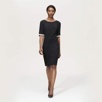 Karl Lagerfeld Paris Split Sleeve Pearl Trim Dress