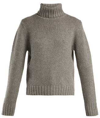 Allude Roll Neck Cashmere Sweater - Womens - Grey
