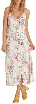 Women's Billabong Ez Breezy Floral Print Midi Dress $59.95 thestylecure.com