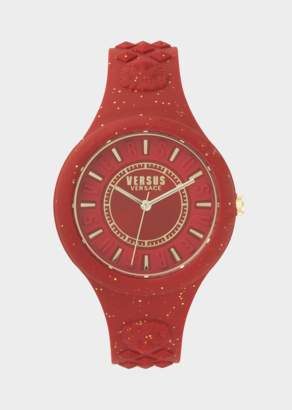 Versus Red Fire Island Glitter Watch