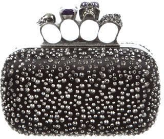 Alexander McQueen Alexander McQueen Jeweled Knuckle Box Clutch