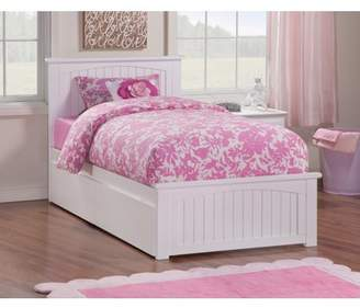 Atlantic Furniture Nantucket Platform Bed with Matching Foot Board with 2 Urban Bed Drawers, Multiple Colors, Multiple Sizes