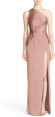 Cushnie One-Shoulder Twist Gown