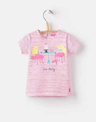Joules Clothing 124744 Baby Girls Short Sleeve Applique Top