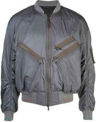 Haider Ackermann classic padded bomber jacket