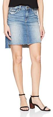 Silver Jeans Co. Women's Francy Mid-Rise High-Low Miniskirt