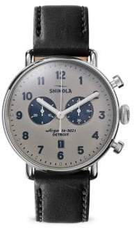 Shinola Stainless Steel Canfield Strap Chronograph Watch