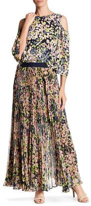 BCBGMAXAZRIA Esten Pleated Maxi Skirt $268 thestylecure.com