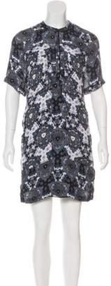 A.L.C. Silk Printed Dress Black Silk Printed Dress