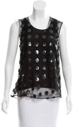 Marc Jacobs Sequined Mesh Top w/ Tags