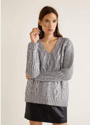 MANGO (マンゴ) - MANGO セーター .-- SHINER (シルバー)