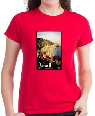 Amalfi by Rangoni CafePress - Antique Italy Coast Travel Poster T-Shirt - Womens Cotton T-Shirt