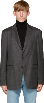 Burberry Grey Millbank Blazer $1,550 thestylecure.com