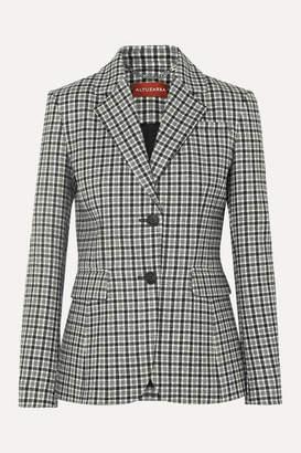 Altuzarra Fenice Checked Wool-blend Twill Blazer - Gray