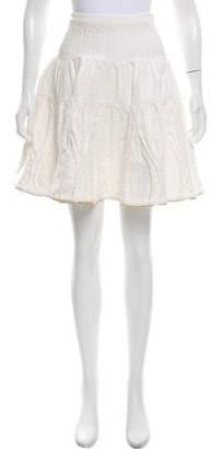 Sophie Theallet Matelassé Silk-Blend Skirt