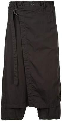 Yohji Yamamoto wrap drop-crotch trousers