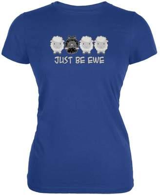 Old Glory Just Be You Ewe Black Sheep Juniors Soft T Shirt Royal LG