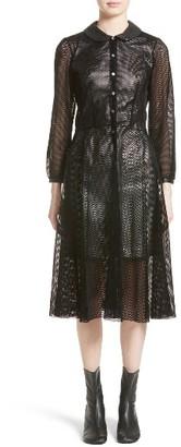 Women's Junya Watanabe Net Overlay Shirtdress $1,080 thestylecure.com
