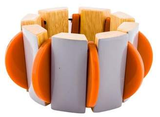 Marni Wood, Lacquer & Resin Stretch Bracelet