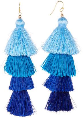 Taolei Ombre Four Tier Tassel Earrings $26.97 thestylecure.com