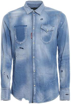 DSQUARED2 Distressed Shirt