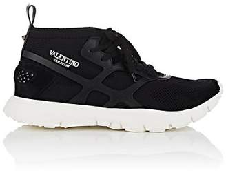 Valentino Men's Sound High Knit Sneakers - Black