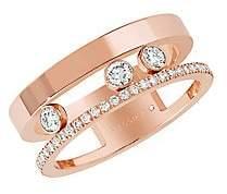 Messika Women's Move Romane Diamond & 18K Rose Gold Ring