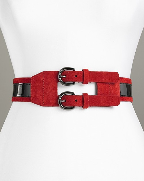 Via Spiga Women's Double Buckle Belt