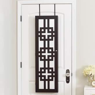 Mercury Row Modern Over The Door Jewelry Armoire with Mirror