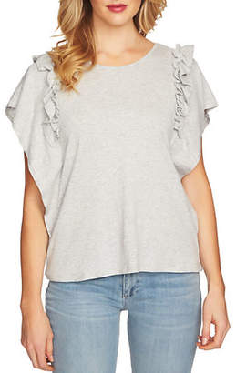 CeCe Tiered Ruffle-Sleeve Top