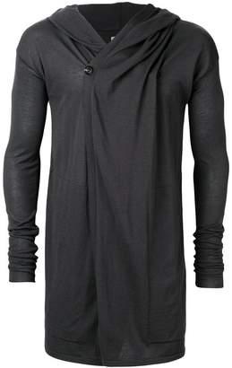 Rick Owens longline hooded cardigan