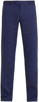 Frescobol carioca Frescobol Carioca - Mid Rise Linen Blend Trousers - Mens - Navy