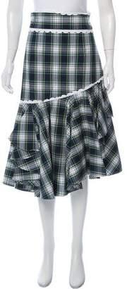 Marissa Webb Plaid Midi Skirt w/ Tags