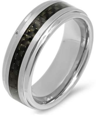 Brilliance+ Brilliance Fine Jewelry Men's Tungsten and Black Carbon Fiber Wedding Band