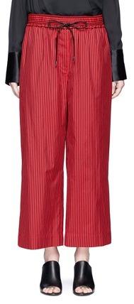 3.1 Phillip Lim3.1 Phillip Lim Stripe cotton-silk drawstring wide leg pants