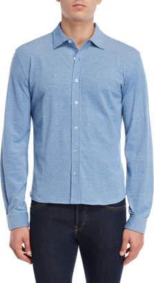 British Polo Collared Long Sleeve Button Shirt