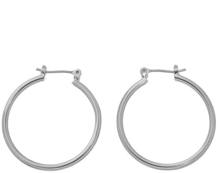 Chaps Metallic Medium Hoop Earrings