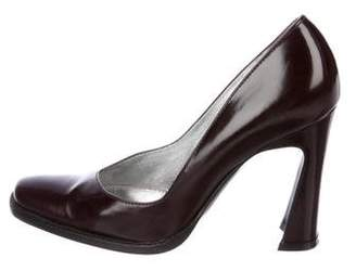 Dolce & Gabbana Ostrich Square-Toe Pumps