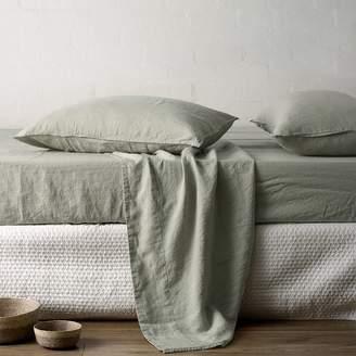 L&M Home Mondo Linen Sheet Set, IDC Fair Green King