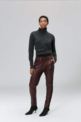 Veda Rival Leather Pant Merlot