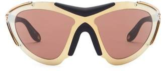 Givenchy Women's Cat Eye Shield Sunglasses $545 thestylecure.com